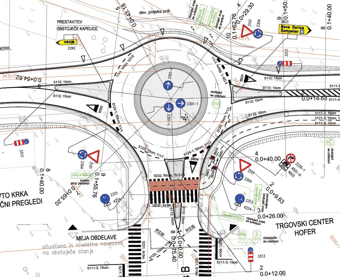 Prometno načrtovanje rondo Hofer Šempeter pri Gorici slika6