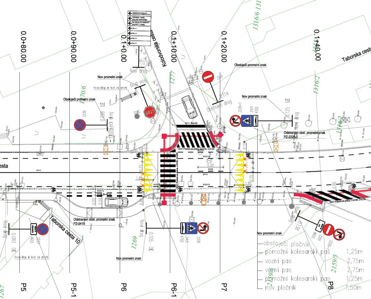 Prometno načrtovanje Taborska cesta Grosuplje slika5