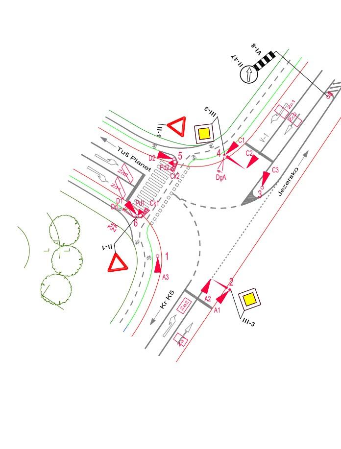 Prometne študije križišče Tuš Kranj slika6