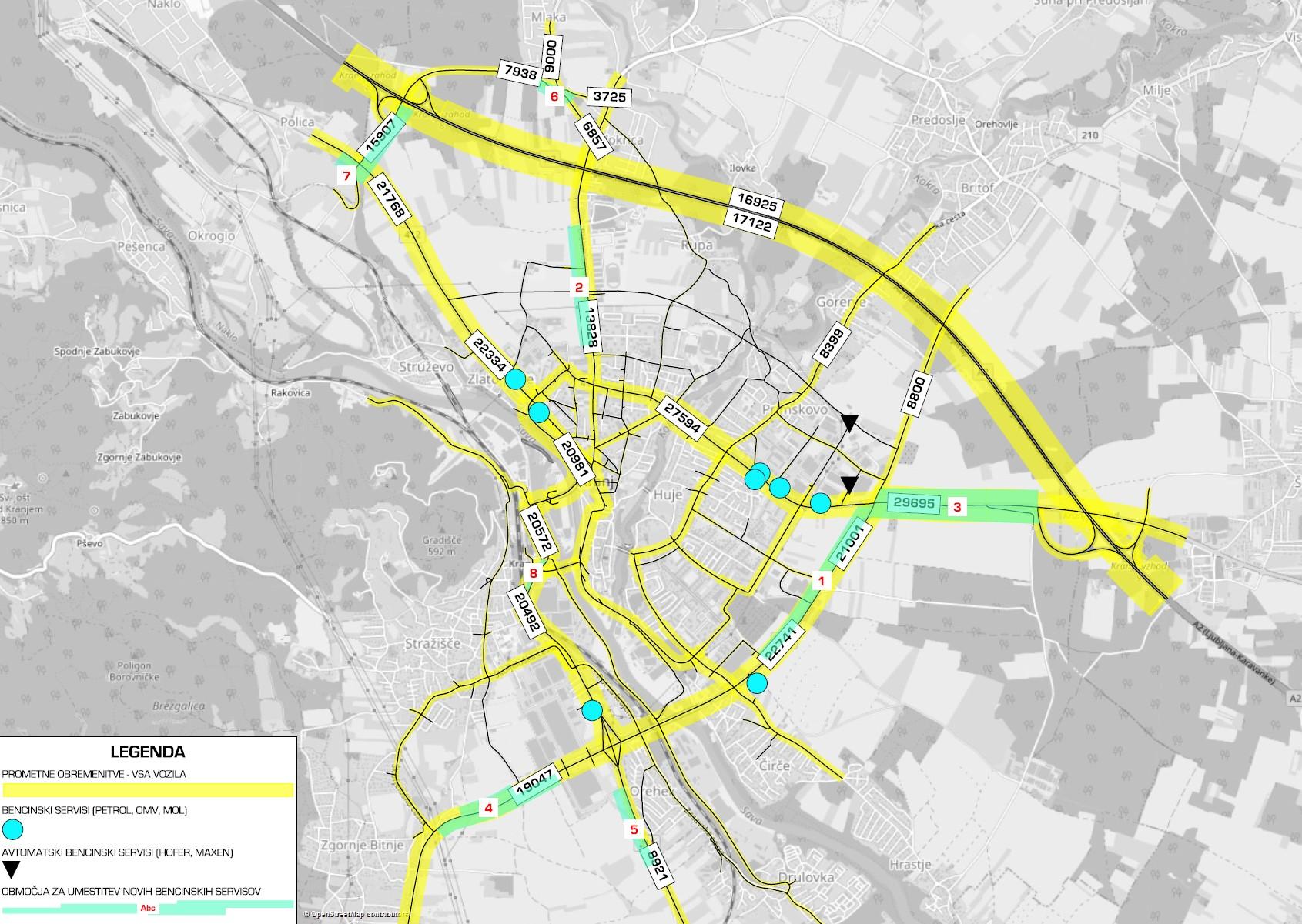 Prometno načrtovanje bencinski servisi Kranj slika3