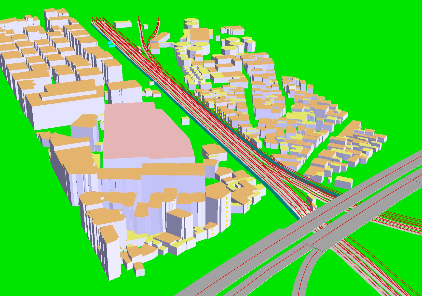 Študija hrupa Izmir 3d prikaz