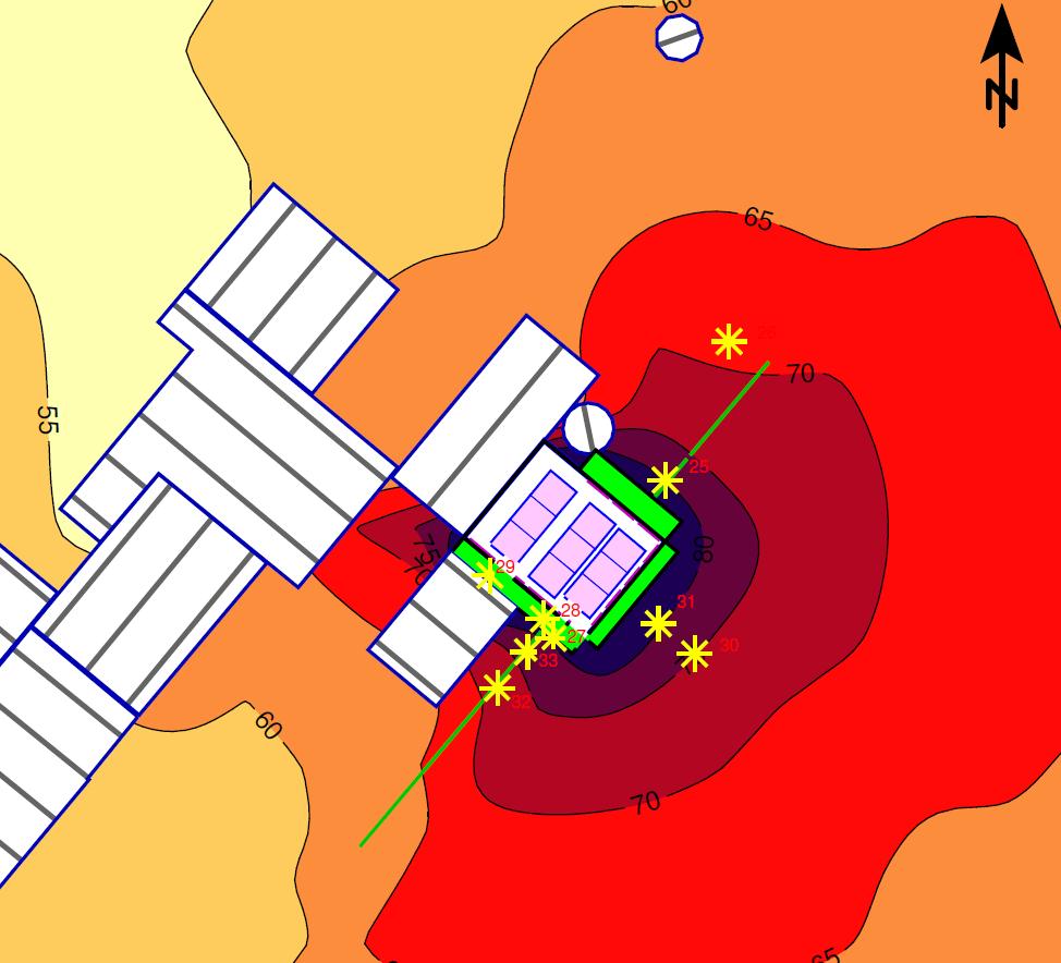 Studija hrupa Knauf Insulation karta hrupa detajl