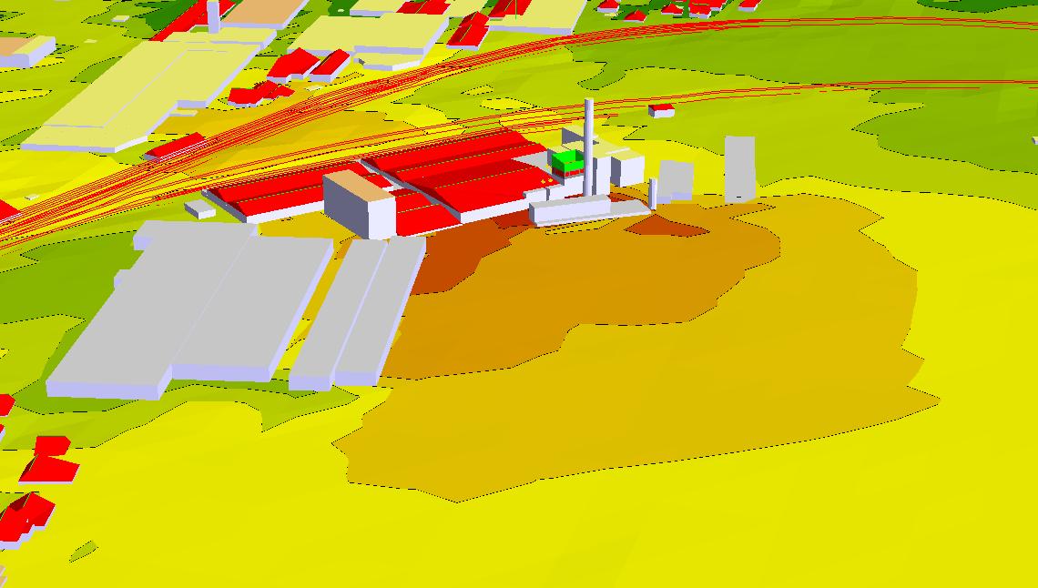 Studija hrupa Knauf Insulation 3D prikaz širše